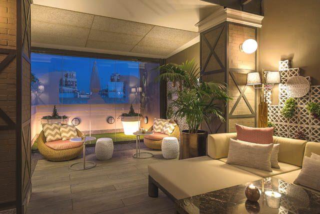 La terraza del hotel Emperador