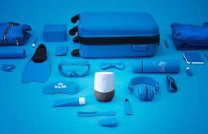 Blue Bot KLM ayuda para hacer maletas