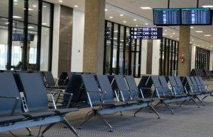 huelga aeropuerto vacio