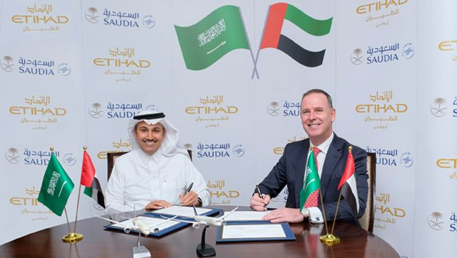 Saudia Airlines Etihad Airways código compartido