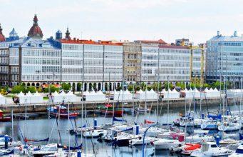 Coruña galerías de la Marina desde Palexco