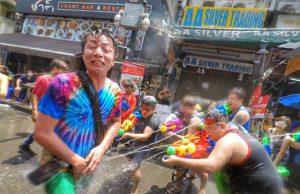 Festival Songkran en Bangkok