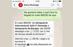 iberia whatsapp