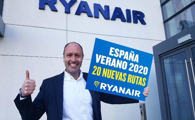 ryanair 20 nuevas rutas