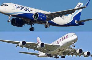 qatar airways código compartido indigo