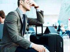 estrés viaje de negocios