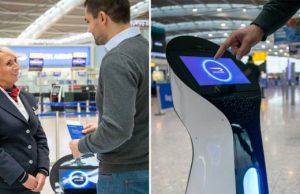 British Airways robots Heathrow