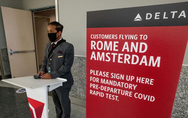 Delta Air Lines_check in covid