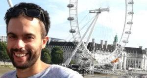 Ignacio Fernández, ante el London Eye