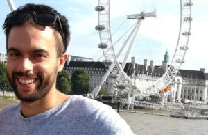 Ignacio Fernández, ante el London Eye