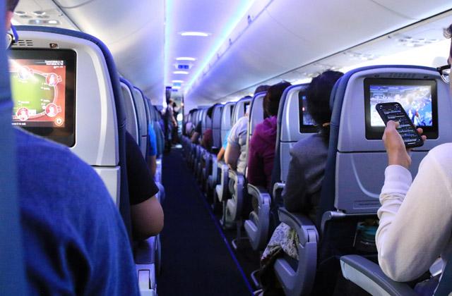 A bordo del avión